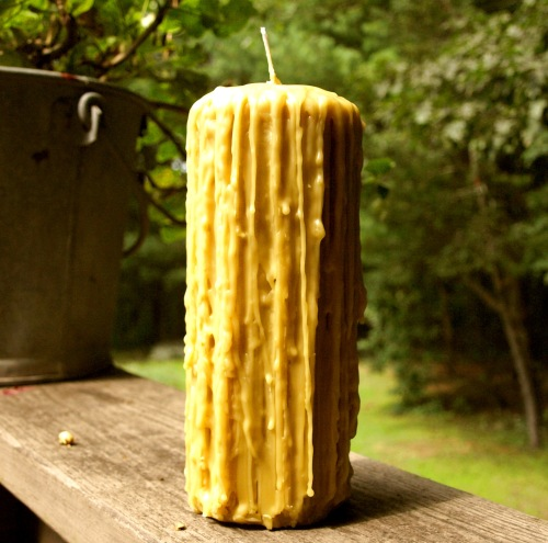 Drippy Beeswax Candle